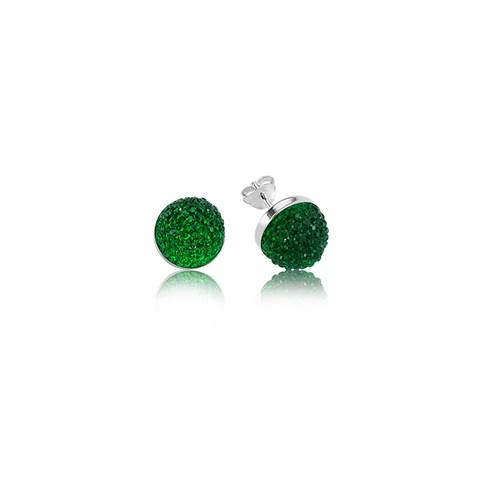 Olivin Accesories Zirkon Taşlı Yeşil Küpe 432218