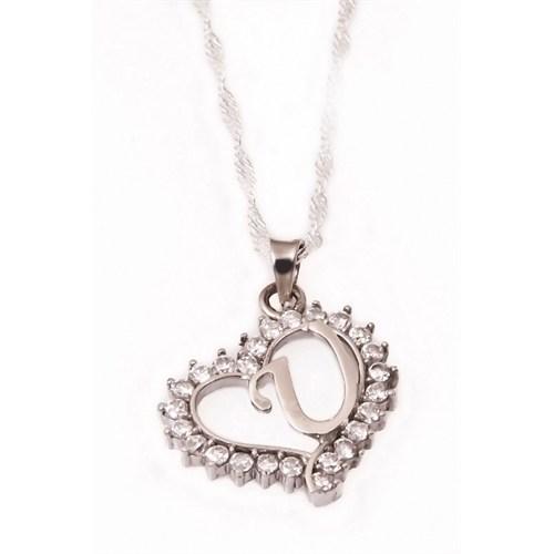Olivin Accesories U Harfi Gümüş Kolye 432372
