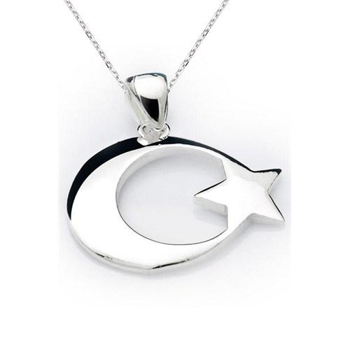 Olivin Accesories Gümüş Ay Yıldız Kolye 432407