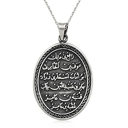 Olivin Accesories Gümüş Kıtmir Duası Oval Kolye 432521