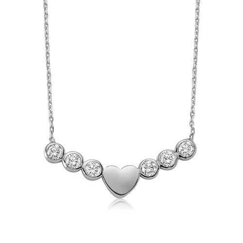 Olivin Accesories Tektaş Kalp Gümüş Kolye 432605