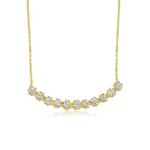 Olivin Accesories Altın Kaplama Tırnaklı Sırataş Gümüş Kolye 432618