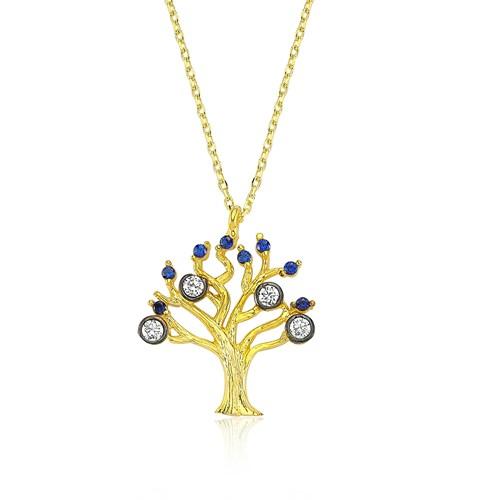Olivin Accesories Gümüş Hayat Ağacı Kolye 432686