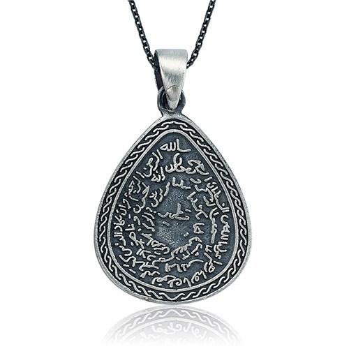 Olivin Accesories Gümüş Kıtmir Duası Damla Kolye 432794