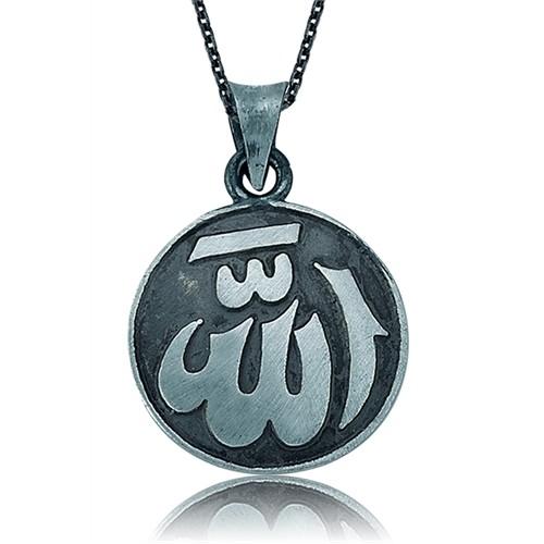 Olivin Accesories Gümüş Allah Yazılı Kolye 432799