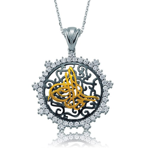 Olivin Accesories Gümüş Tuğra Kolye 432808