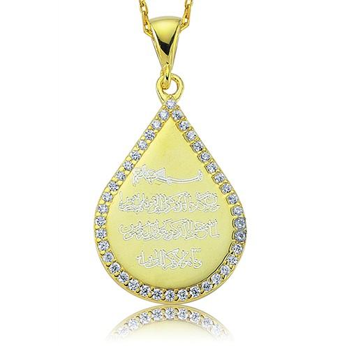 Olivin Accesories Gümüş Damla Nazar Duası Kolye 432810