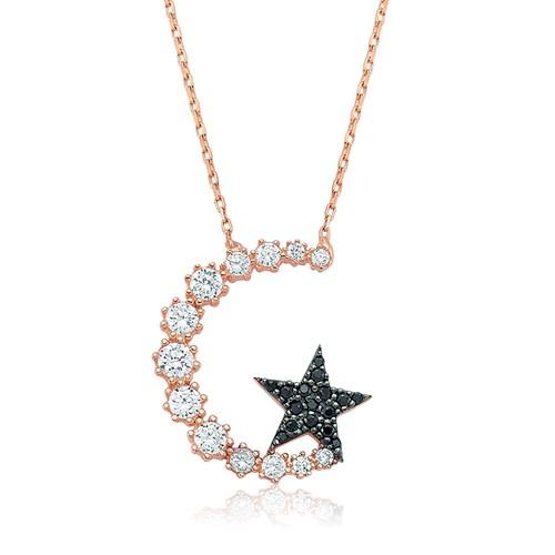 Olivin Accesories Gümüş Ay Yıldız Kolye 432818