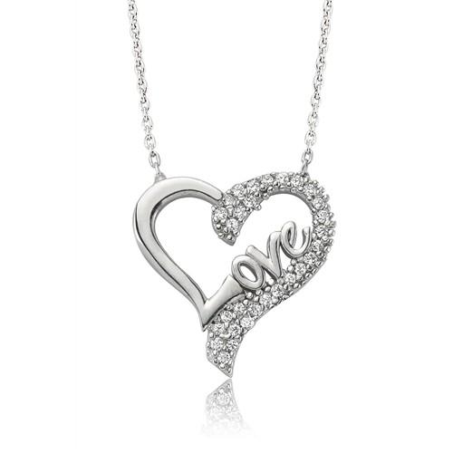 Olivin Accesories Gümüş Love Kalp Kolye 432852