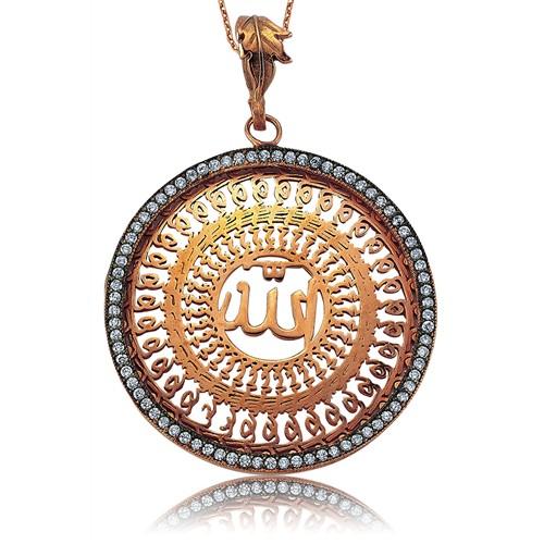 Olivin Accesories Gümüş Allah Yazılı Kolye 432872