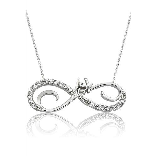 Olivin Accesories Gümüş Sonsuz Aşk Kolye 432894