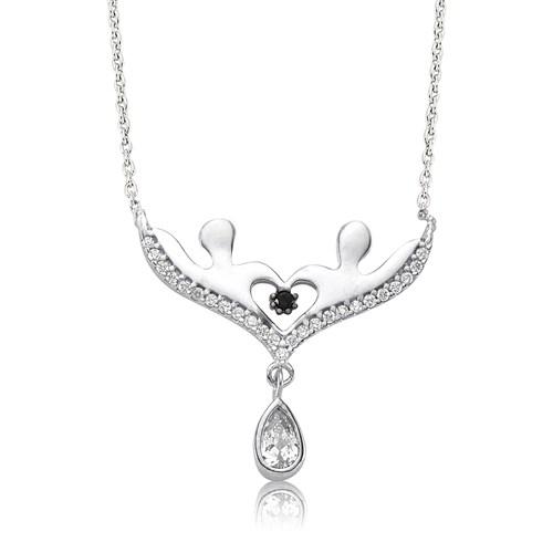 Olivin Accesories Gümüş Aşıklar Kolye 432895