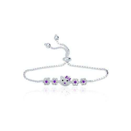 Olivin Accesories Gümüş Hello Kitty Çocuk Bileklik 433177