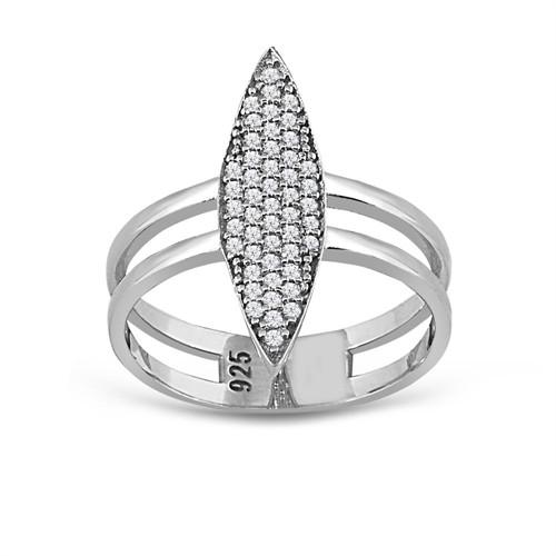 Tesbihane Gümüş Zirkon Taşlı Eklem Yüzüğü
