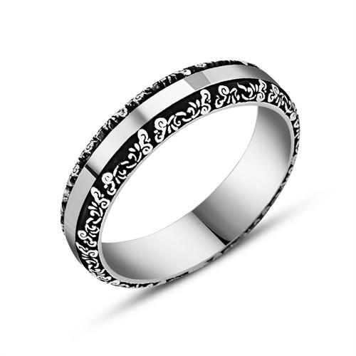 Tesbihane 925 Ayar Gümüş Erkek Alyans