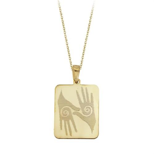 Tesbihane 925 Ayar Gümüş El Figürlü Kolye