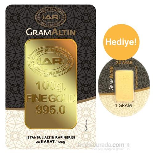 Iar 24 Ayar Gram Altın Külçe Altın 100 Gr. - 1 Gr Külçe Altın Hediye