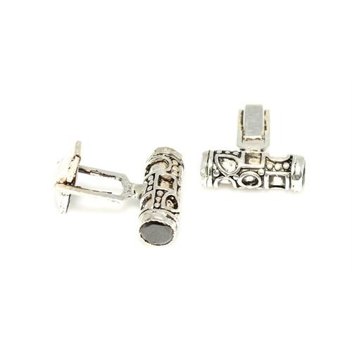 Nusrettaki 925 Ayar Gümüş Silindir Modeli Kol Düğmesi