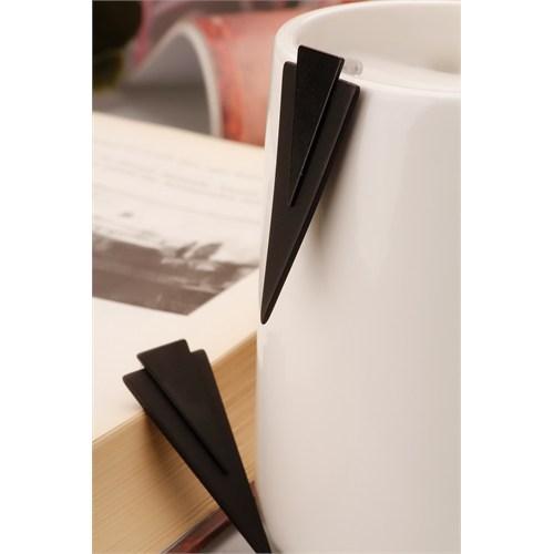 Morvizyon Siyah Üçgen Model Bayan Küpe