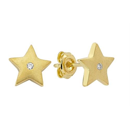 Koçak Gold 14 Ayar Sarı Altın Yıldız Küpe
