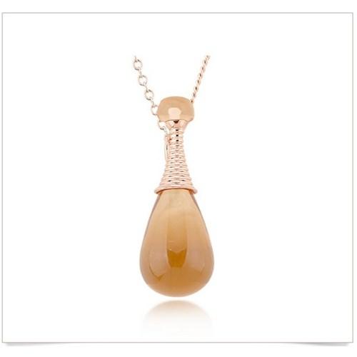 Byzinci Altın Kaplama Opal Taşlı Şişe Motif Bayan Kolye