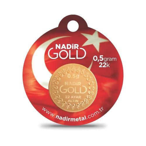 Ziynet 22 Ayar Külçe Gram Altın 0,5 Gr. (Yuvarlak)