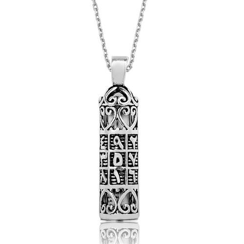 Tekbir Silver Gümüş Ebced Harfli Cevşen Kolye