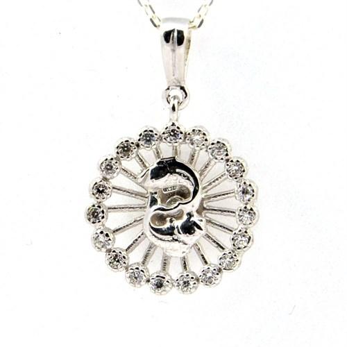 Bayan Lili 925 Ayar Burç Gümüş Kolye Balık
