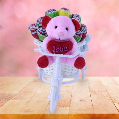 Sevgiliye Romantik Hediye Tatlı Sevgi Bisikleti