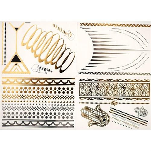 KullanAtMarket Mücevher Görünümlü Metalik Dövme (Forever Yasmin) 4 Adet