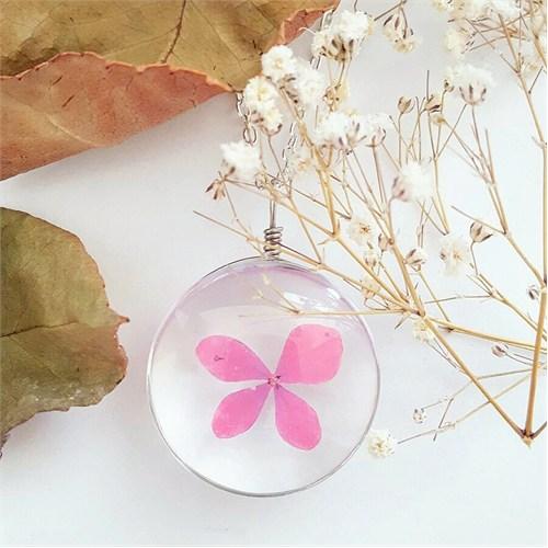 Güven Altın Yaşayan Kolyeler Kristal Cam Kurutulmuş Çiçekler Yk120