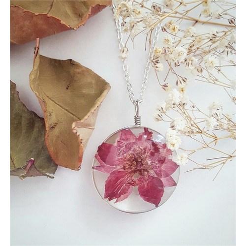 Güven Altın Yaşayan Kolyeler Kristal Cam Kurutulmuş Çiçekler Yk168