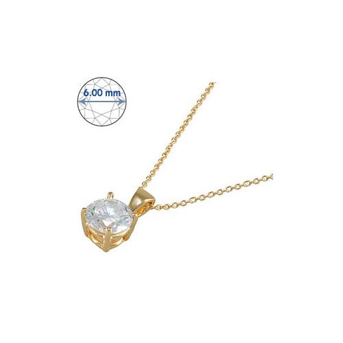 Goldstore 14 Ayar Altın Tek Taş Kolye GSP15869