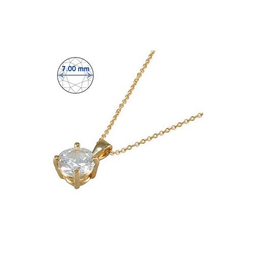 Goldstore 14 Ayar Altın Tek Taş Kolye GSP15871