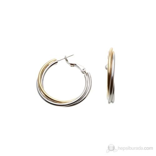 Lochers Altın Kaplama Metal Üçlü Küpe