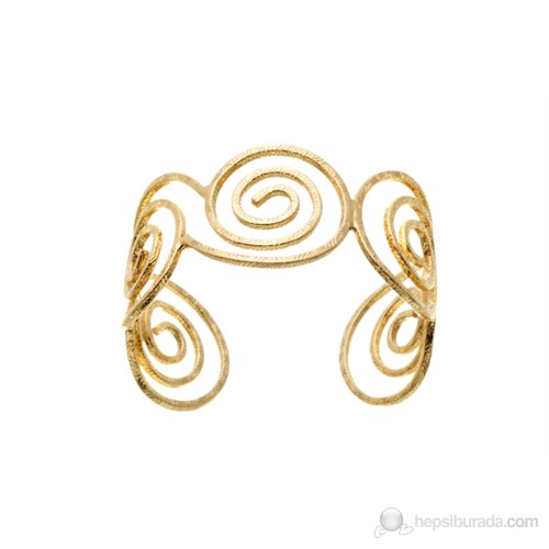 Lochers Altın Kaplama Sonsuz Desenli Bileklik