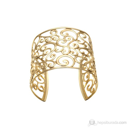 Lochers Altın Kaplama Çiçek Desenli Bileklik