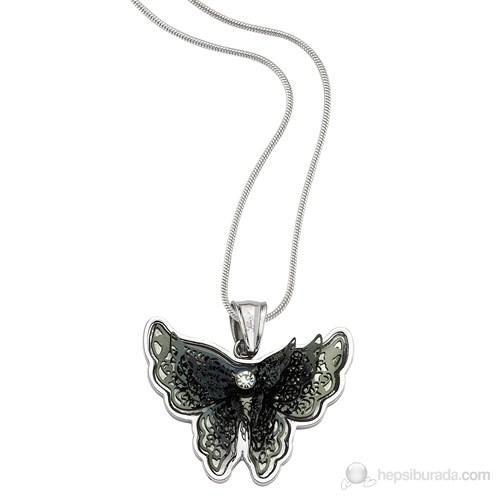 Lochers Taşlı Kelebek Çelik Kolye