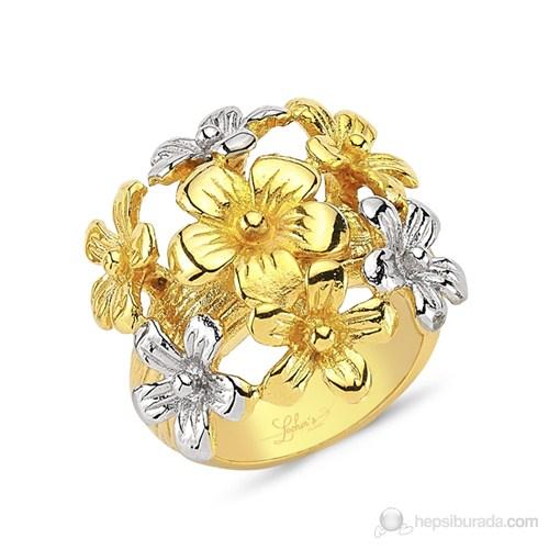 Lochers Çiçek Desenli Çelik Yüzük