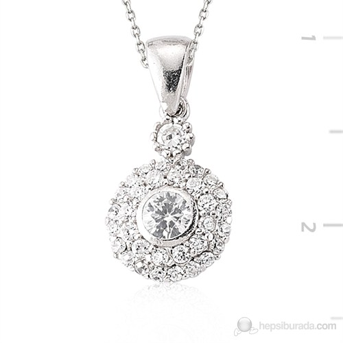 Tekbir Silver 925 Gümüş Zirkon Taşlı Kolye | Set101109p