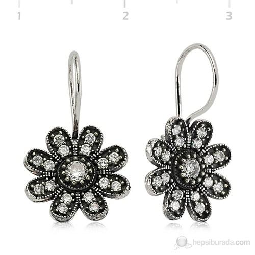 Bayan Lili Gümüş Çiçek Küpe