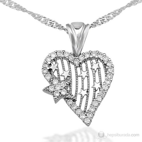 Bayan Lili Kalbimin Yıldızı Gümüş Kolye