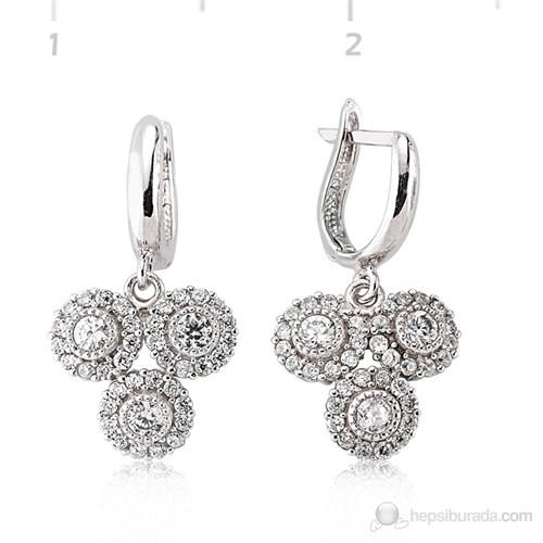 Tekbir Silver 925 Gümüş Zirkon Taşlı Küpe Set101104e