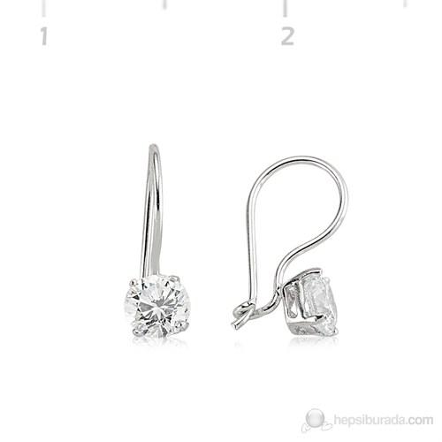 Tekbir Silver 925 Gümüş Zirkon Taşlı Küpe Set101139e