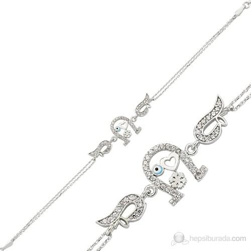 Gumush 925 Zirkon Taşlı Gümüş Bileklik Br0460079