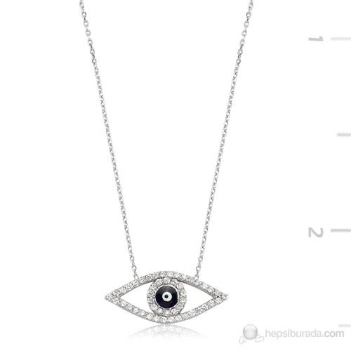 Bayan Lili Gümüş Nazarlı Göz Kolye