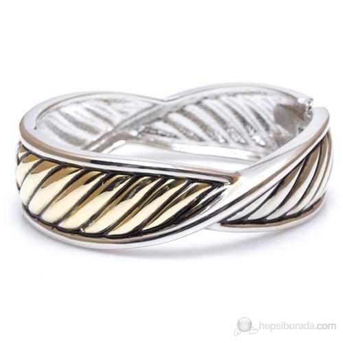 Bigg Hathor Örgü Kelepçe-Altın Gümüş