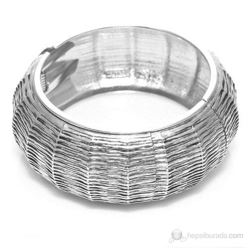 Bigg Hathor Tırtık Kelepçe-Gümüş