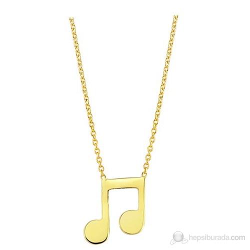 Goldstore 14 Ayar Altın Nota Kolye Gp24410
