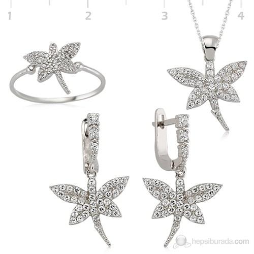 Gumush 925 Gümüş Zirkon Taşlı Yusufçuk Set ST0460007